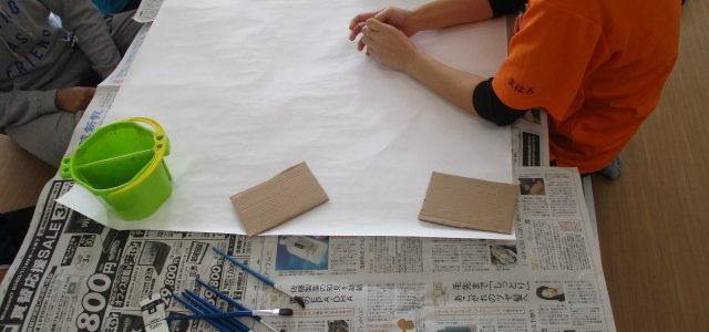 壁面作り(*'▽')