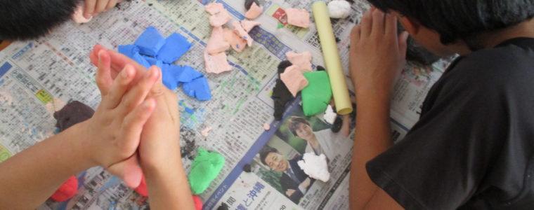 紙粘土遊び✨